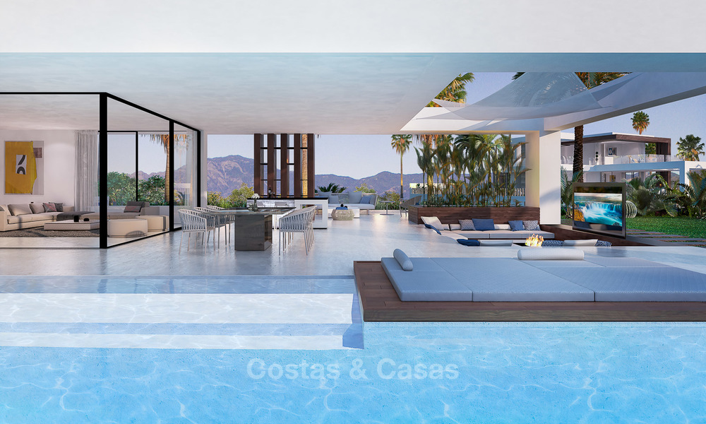 Special offer for the last villa! Key ready! Stunning, spacious, modern luxury villas with sea views for sale in a new complex between Estepona and Marbella 4335