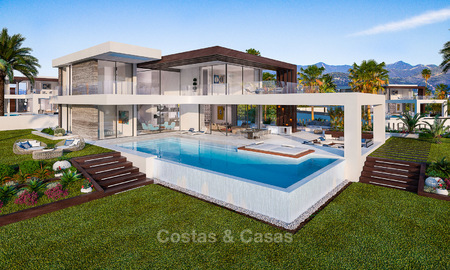 Stunning, spacious, modern luxury villas with wonderful sea views for sale in a new development between Estepona and Marbella 4336