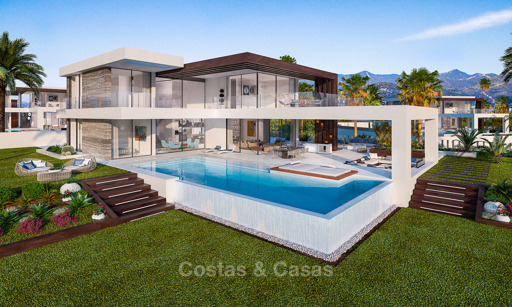 Special offer for the last villa! Key ready! Stunning, spacious, modern luxury villas with sea views for sale in a new complex between Estepona and Marbella 4336