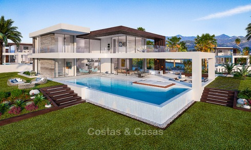 Special offer for the 2 last villas! Stunning, spacious, modern luxury villas with wonderful sea views for sale in a new development between Estepona and Marbella 4336
