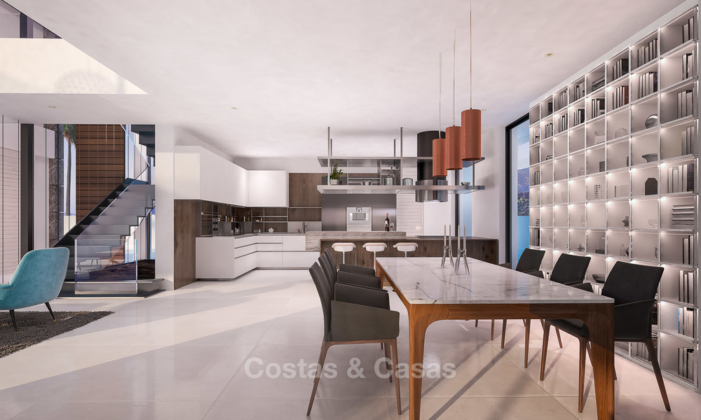 Special offer for the last villa! Key ready! Stunning, spacious, modern luxury villas with sea views for sale in a new complex between Estepona and Marbella 4337
