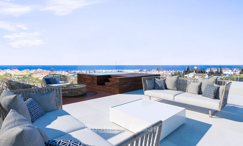 Special offer for the last villa! Key ready! Stunning, spacious, modern luxury villas with sea views for sale in a new complex between Estepona and Marbella 4344