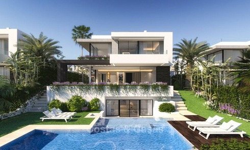 New, contemporary, modern luxury villas for sale in a new boutique development in Estepona - Marbella 4368