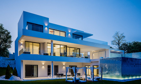 Modern new villa with fantastic sea views for sale, located in a gated community in Benahavis, Marbella 4401