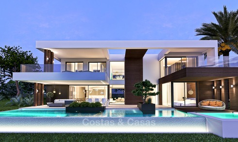 Exclusive modern villas with sea views for sale on the New Golden Mile, between Marbella and Estepona 4445