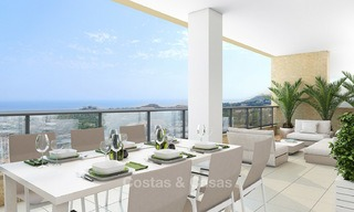 Great value, modern apartments with fantastic sea views for sale in Benalmadena, Costa del Sol 4510