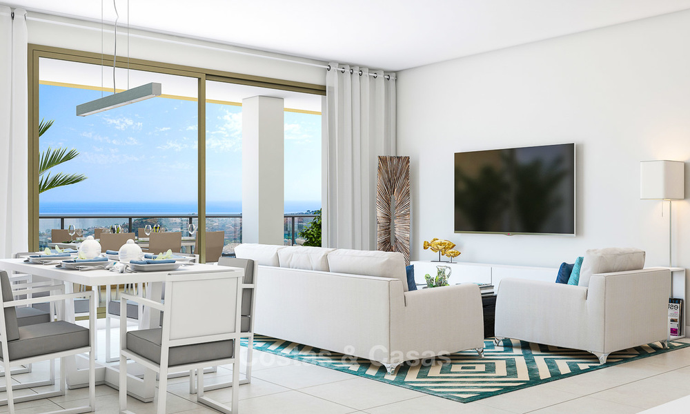 Great value, modern apartments with fantastic sea views for sale in Benalmadena, Costa del Sol 4515