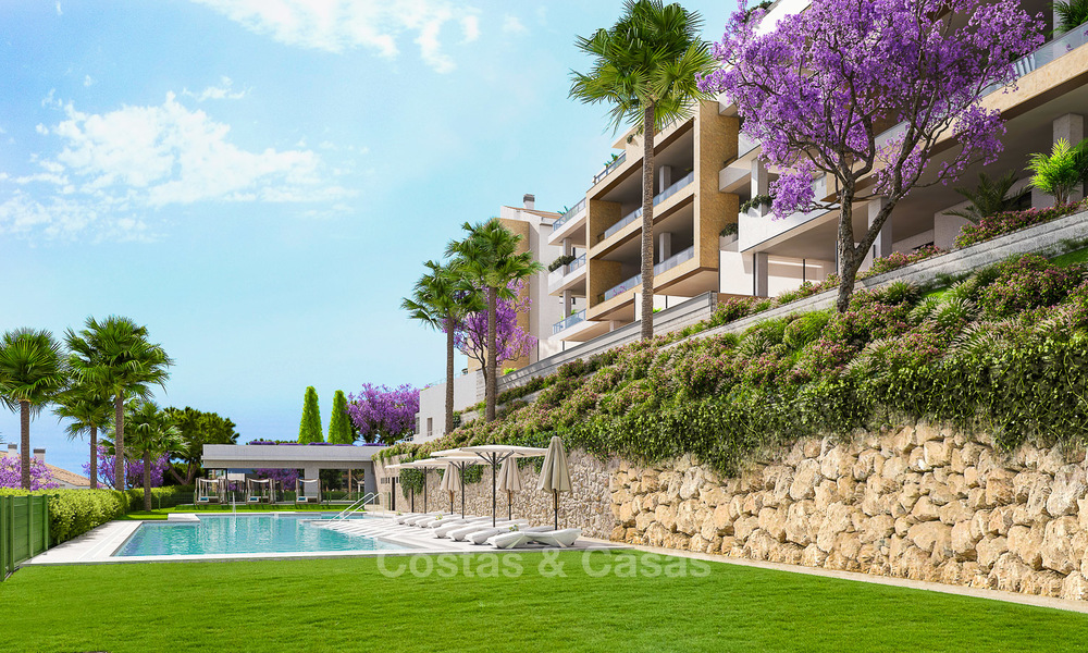 Great value, modern apartments with fantastic sea views for sale in Benalmadena, Costa del Sol 4517