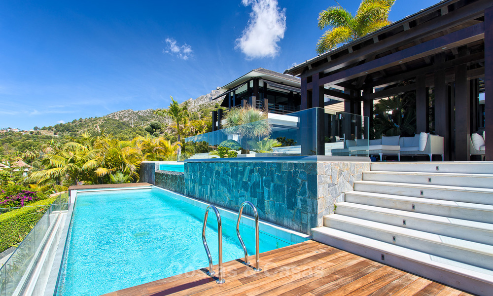 Very exclusive and majestic modern design villa with stunning sea views for sale, Golden Mile, Marbella 4528