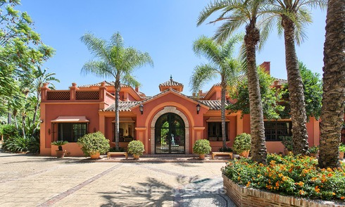 Prestigious traditional style villa with sea views in exclusive La Zagaleta for sale, Benahavis, Marbella 4563