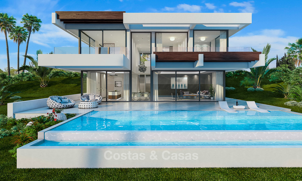 Modern villa for sale with beautiful open sea views, 5 minutes' walk to the beach - Estepona 4703