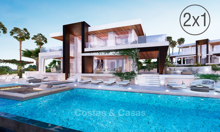 Two newly built luxurious, modern-contemporary villas for sale for the price of one, Nueva Andalucia, Marbella 4726