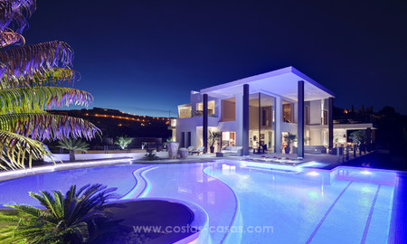 Awe inspiring modern luxury villa with panoramic sea views for sale, frontline golf, Benahavis – Marbella 4766
