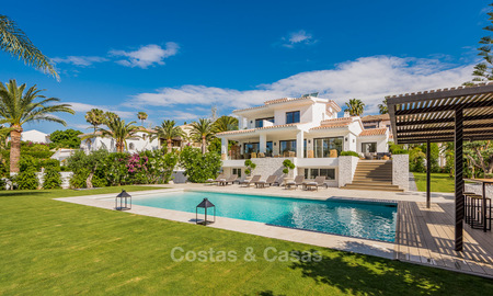 Recently renovated Andalusian style luxury villa with sea views for sale, close to beach, Elviria, East Marbella 4835