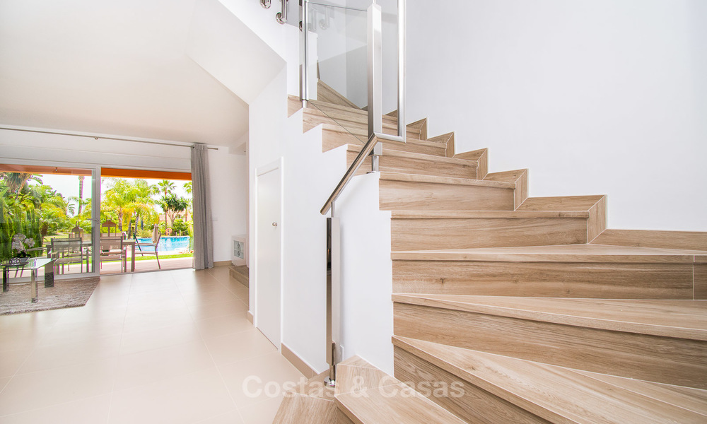 Freshly renovated, Andalusian style townhouses for sale, with sea views, ready to move in, Benahavis, Marbella 5946
