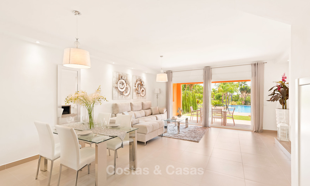 Freshly renovated, Andalusian style townhouses for sale, with sea views, ready to move in, Benahavis, Marbella 6143