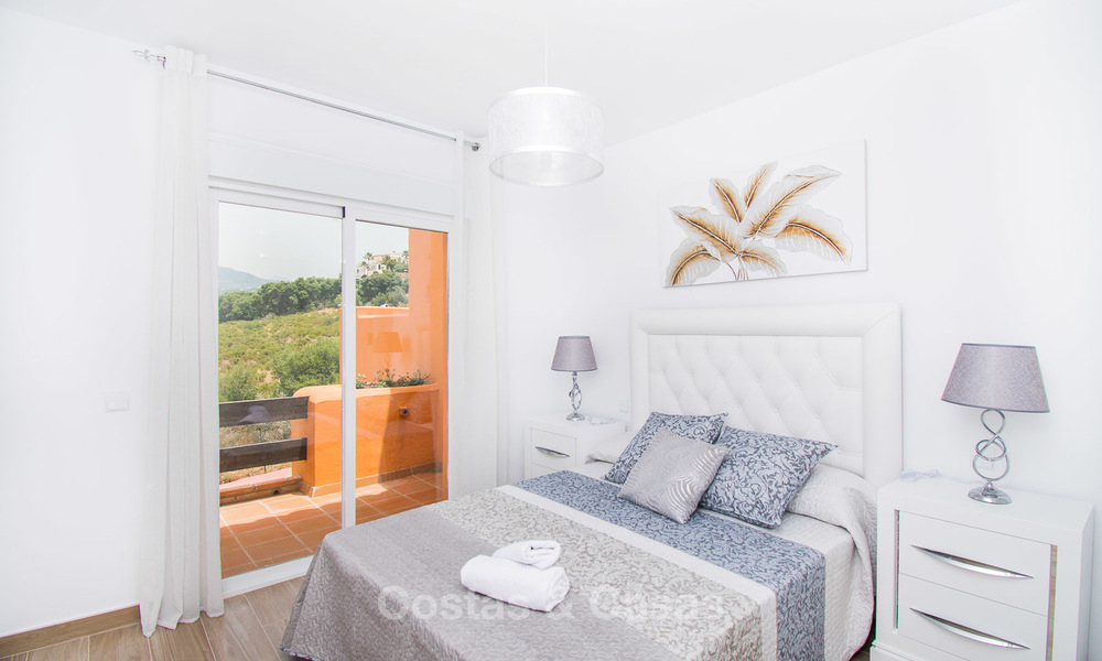 Freshly renovated, Andalusian style townhouses for sale, with sea views, ready to move in, Benahavis, Marbella 5960