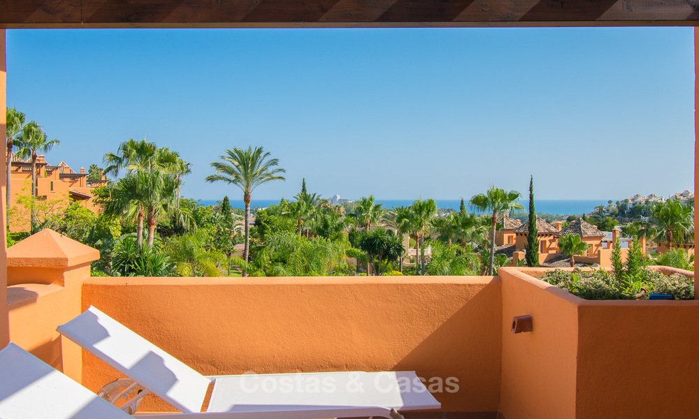 Freshly renovated, Andalusian style townhouses for sale, with sea views, ready to move in, Benahavis, Marbella 5966