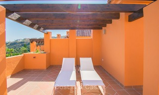 Freshly renovated, Andalusian style townhouses for sale, with sea views, ready to move in, Benahavis, Marbella 5967