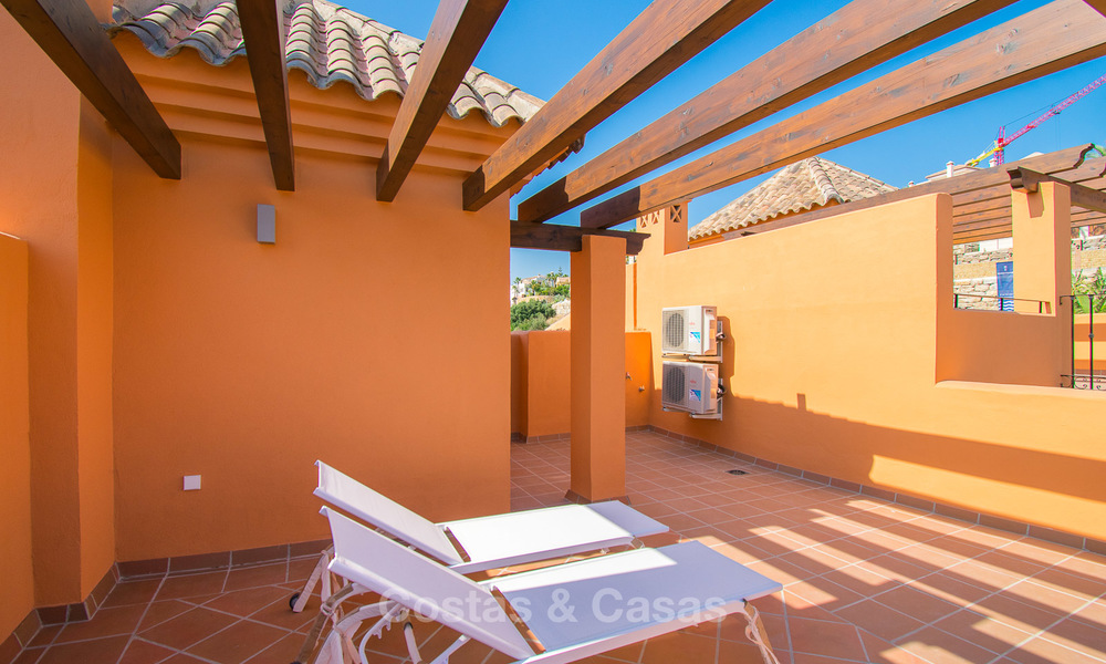 Freshly renovated, Andalusian style townhouses for sale, with sea views, ready to move in, Benahavis, Marbella 5969
