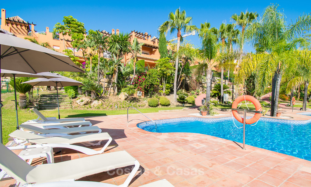 Freshly renovated, Andalusian style townhouses for sale, with sea views, ready to move in, Benahavis, Marbella 5985