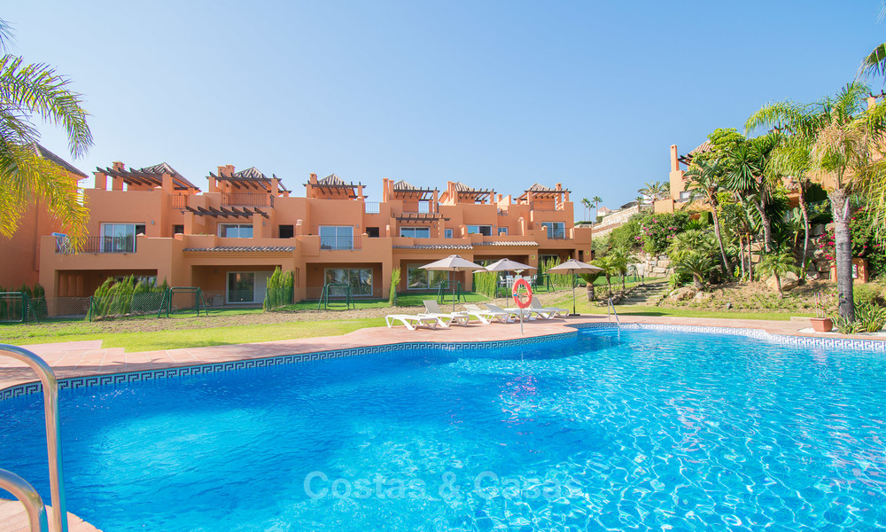 Freshly renovated, Andalusian style townhouses for sale, with sea views, ready to move in, Benahavis, Marbella 5990