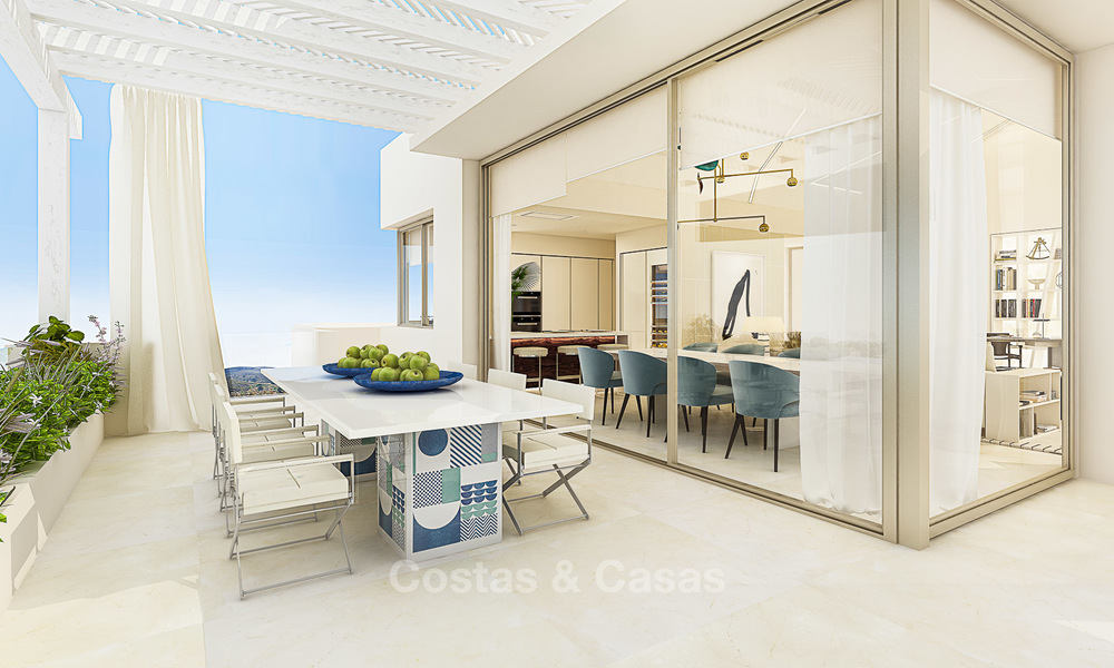 Modern luxury apartments for sale in a new development with spectacular sea views in Benahavis, Marbella 4841
