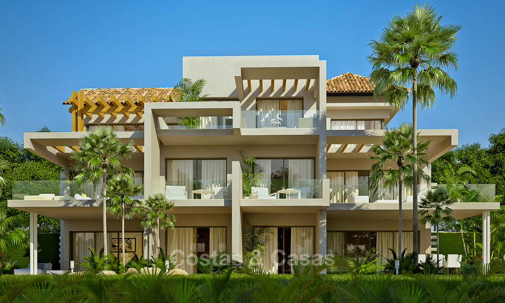 Modern luxury apartments for sale in a new development with spectacular sea views in Benahavis, Marbella 4845