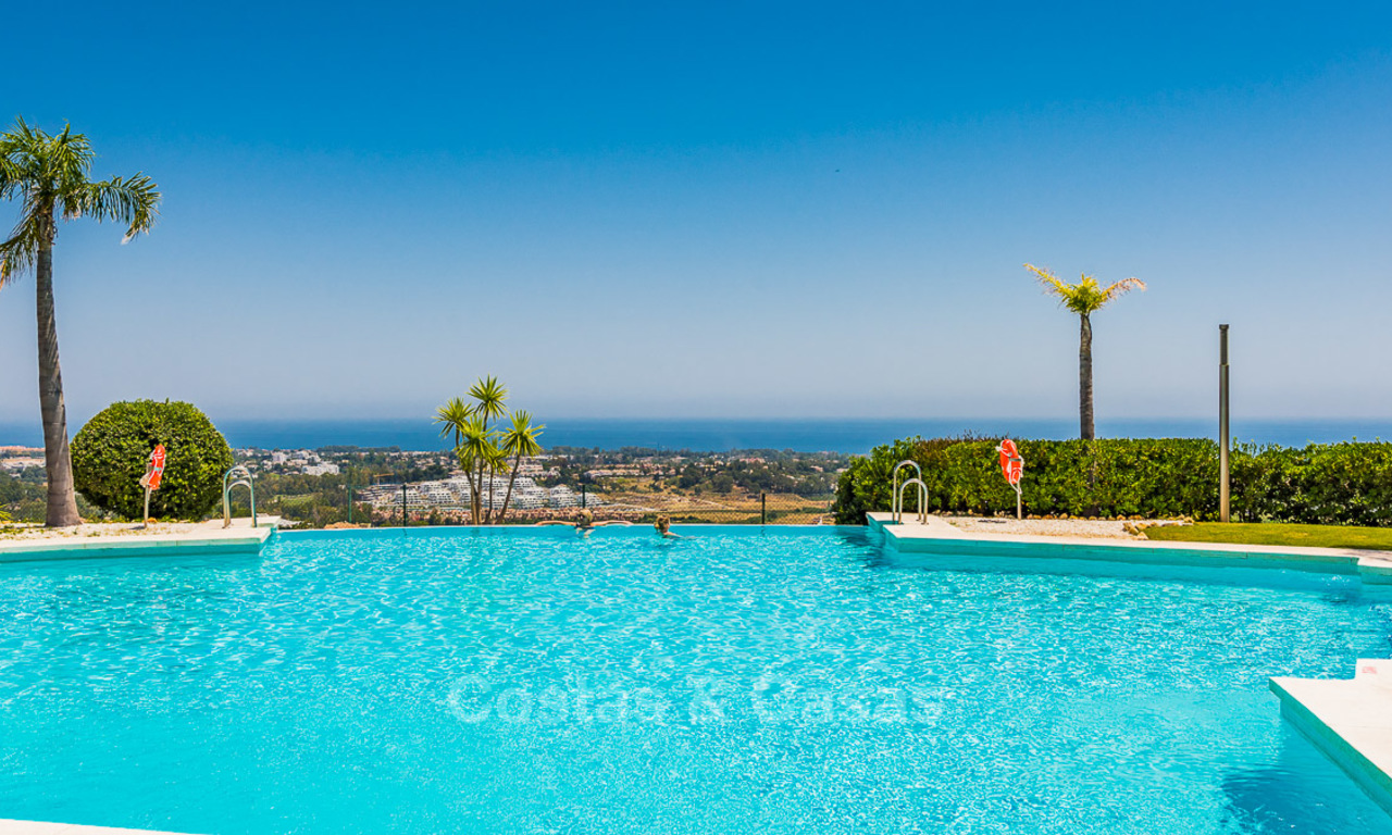 New, Andalusian style, luxury apartments with stunning sea views for sale, in Benahavis – Marbella 5067