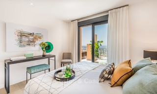 New, Andalusian style, luxury apartments with stunning sea views for sale, in Benahavis – Marbella 5076