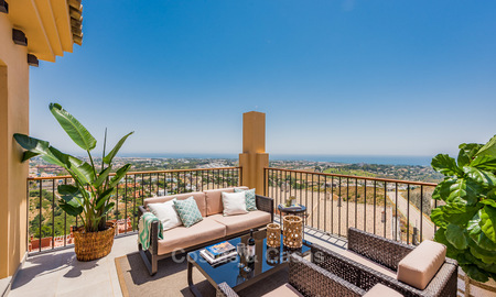 New, Andalusian style, luxury apartments with stunning sea views for sale, in Benahavis – Marbella 5081