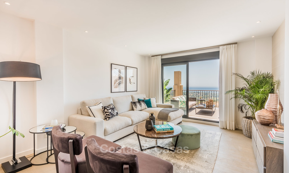 New, Andalusian style, luxury apartments with stunning sea views for sale, in Benahavis – Marbella 5082