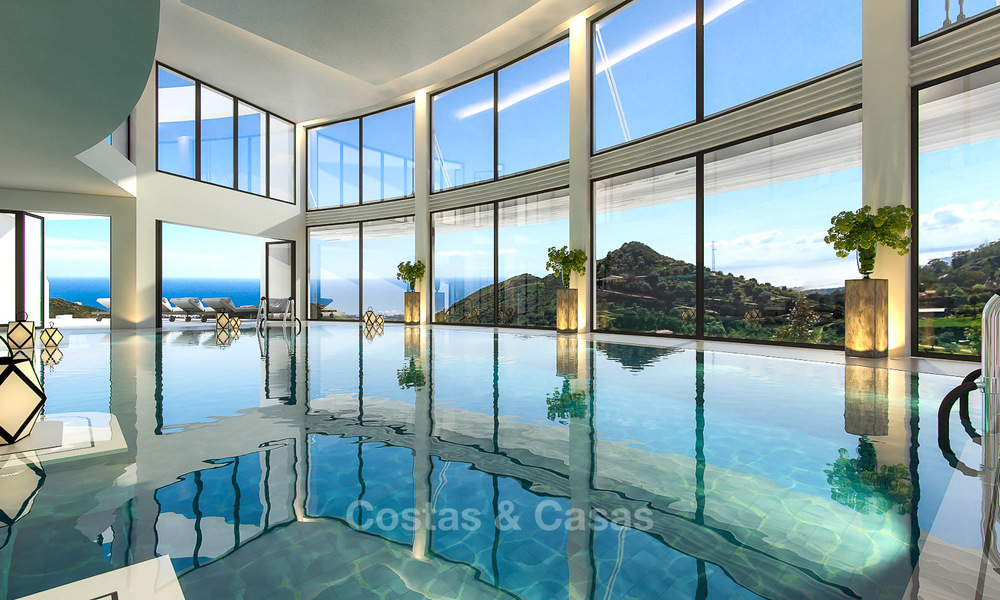 Modern luxury apartments for sale with uninterrupted sea views at a short drive from Marbella center. 4861