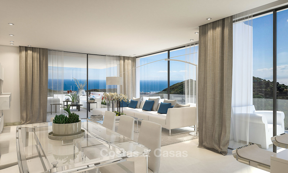 Modern luxury apartments for sale with uninterrupted sea views at a short drive from Marbella center. 4863