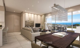 Modern luxury apartments for sale with uninterrupted sea views at a short drive from Marbella center. 4865