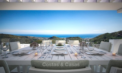 Modern luxury apartments for sale with uninterrupted sea views at a short drive from Marbella center. 4869