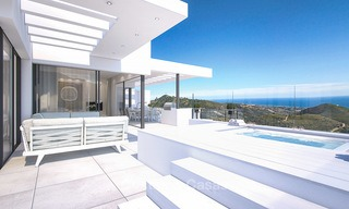 Modern luxury apartments for sale with uninterrupted sea views at a short drive from Marbella center. 4870