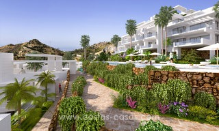 Modern luxury apartments for sale with uninterrupted sea views at a short drive from Marbella center. 4873
