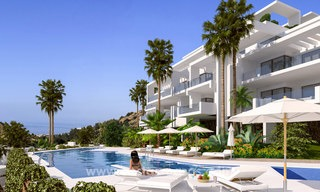 Modern luxury apartments for sale with uninterrupted sea views at a short drive from Marbella center. 4876