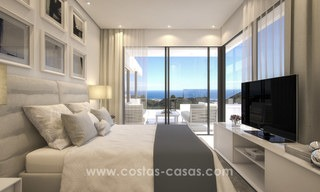 Modern-contemporary luxury apartments with marvellous sea views for sale, short drive to Marbella centre. 4920