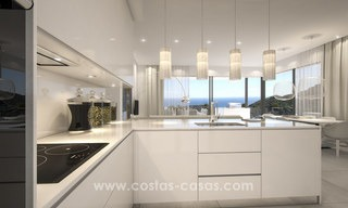 Modern-contemporary luxury apartments with marvellous sea views for sale, short drive to Marbella centre. 4923
