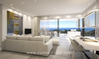 Modern-contemporary luxury apartments with marvellous sea views for sale, short drive to Marbella centre. 4926