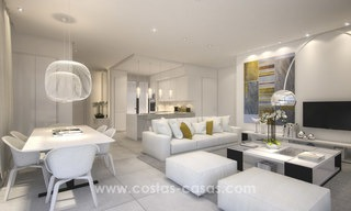 Modern-contemporary luxury apartments with marvellous sea views for sale, short drive to Marbella centre. 4928