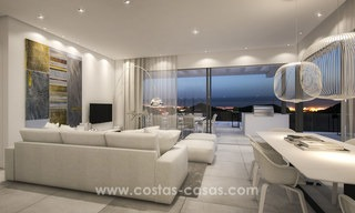 Modern-contemporary luxury apartments with marvellous sea views for sale, short drive to Marbella centre. 4929
