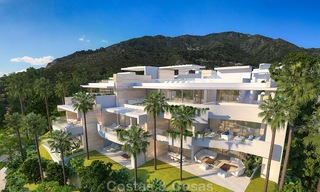 Modern-contemporary luxury apartments with marvellous sea views for sale, short drive to Marbella centre. 4915