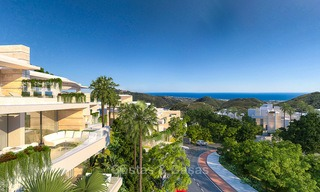 Modern-contemporary luxury apartments with marvellous sea views for sale, short drive to Marbella centre. 4916