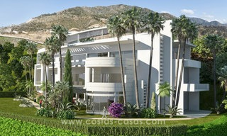 Modern-contemporary luxury apartments with marvellous sea views for sale, short drive to Marbella centre. 4937