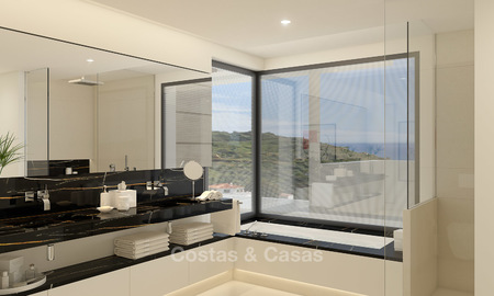 Modern-contemporary luxury apartments with exquisite sea views for sale, short drive to Marbella centre. 4940