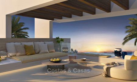 Modern-contemporary luxury apartments with exquisite sea views for sale, short drive to Marbella centre. 4945