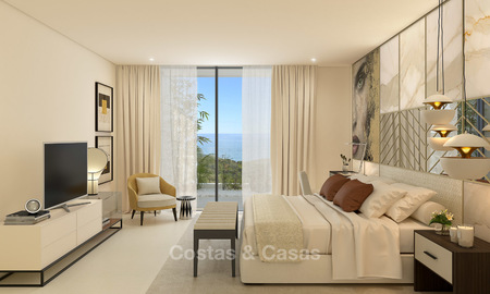 Modern-contemporary luxury apartments with exquisite sea views for sale, short drive to Marbella centre. 4948